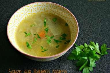 Soupe aux légumes racines