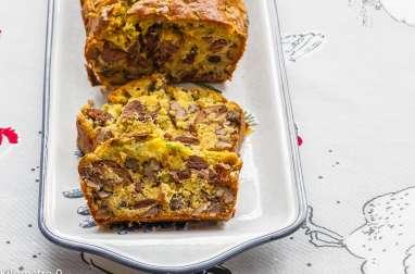 Cake au confit de canard et aux noix