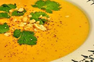 Velouté de carottes et patates douces à la Thaï