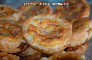 Mini quiche escalope
