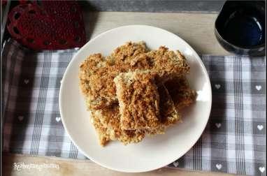 Barres d'avoine au miel et à la noix de coco