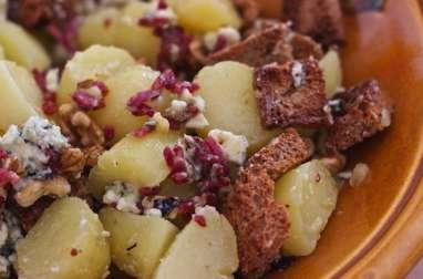 Salade Pommes de terre et Roquefort
