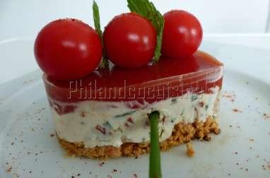 Coeur fromager à la tomate au chèvre et au chorizo