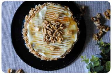 Gâteau aux noix, cream cheese mascarpone et caramel
