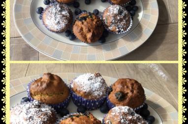Muffins à la farine de Lupin et myrtilles