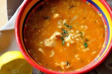 Soupe au poulet et à la menthe