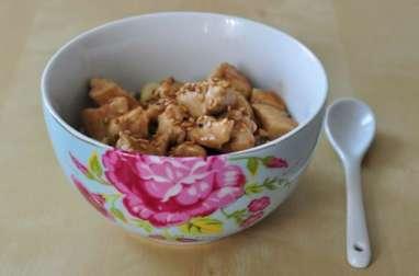 Poulet à la crème fraîche, au miel et au vinaigre balsamique