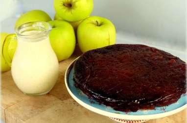 Gâteau confit de pommes avec juste deux ingrédients