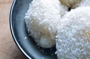 Perles de coco fourées à la mangue