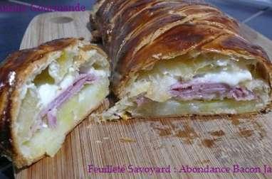 Feuilleté Savoyard : Abondance, Bacon, Jambon et Pommes de Terre