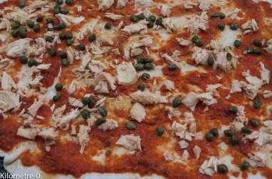 Pizza au thon et aux capres