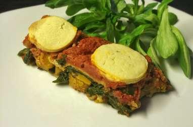 Lasagnes aux légumes d'hiver au fromage vegan
