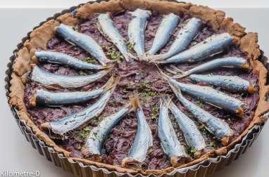 Tarte au blé noir oignons et sardines