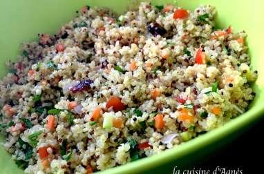 salade de quinoa et boulgour