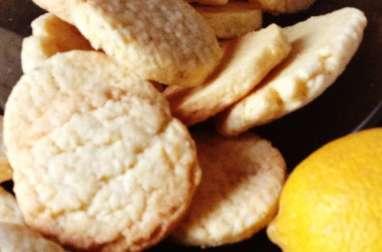 Petits sablés à la noisette et au citron confit