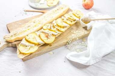 Tartines aux pommes brie miel