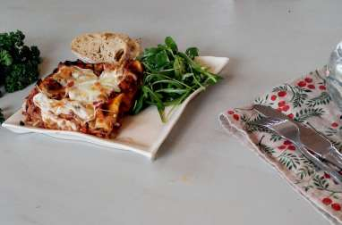 Lasagnes fondantes aux légumes et mozzarella