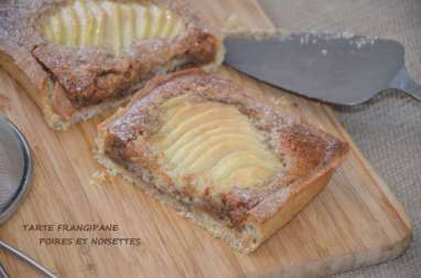 Tarte frangipane aux poires