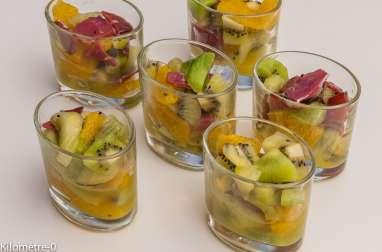 Verrine kiwis, oranges et magret de canard