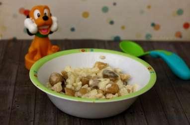 Risotto aux champignons et poulet
