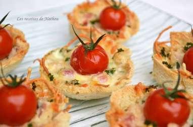 Tartelettes croque-monsieur