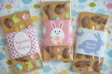 Tablettes de chocolat customisé pour Pâques