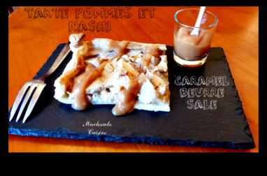 Tarte aux pommes et nashi au caramel au beurre salé