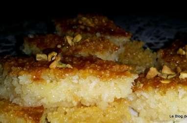 Basboussa Libanaise au yaourt et à la noix de coco