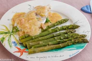 Merlu au beurre blanc et asperges vertes