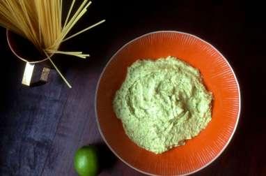Pasta Verde Avocat Citron Vert Basilic