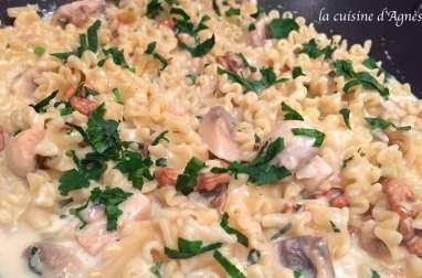 one pot pasta gorgonzola champignons