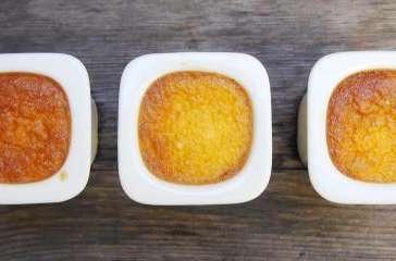 Crème aux œufs à la vanille.