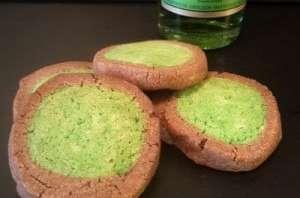 Sablés chocolat Chartreuse verte