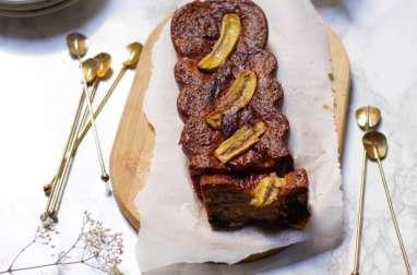 Cake banane chocolat et noix