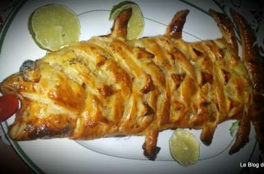 Tresse feuilletée en forme de poisson