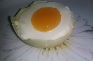 Oeuf de panna cotta à l'orange