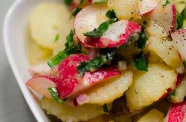 Salade de pommes de terre à l'ail des ours et aux radis