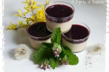 Crèmes au thé fruits rouges et gelée de mûres maison