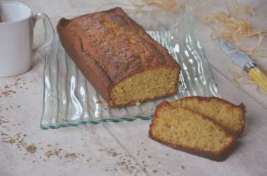 Cake aux grains d'anis et miel de lavande