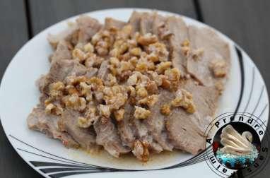 Rôti de veau sauce aux noix