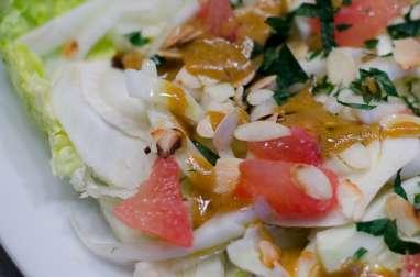Salade de fenouil et de pamplemousse rose à la menthe