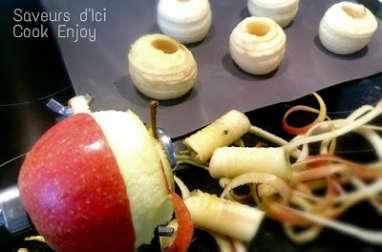 Pommes au four croustillantes aux amandes effilées et miel