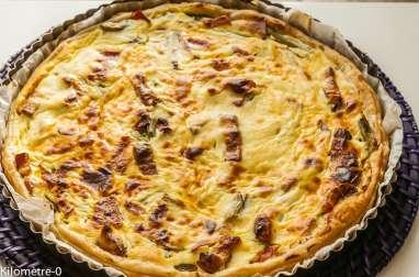 Tarte ricotta asperges vertes et jambon