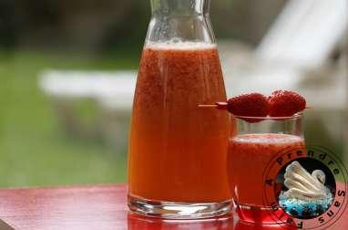Sangria minute aux fraises