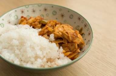 Riz de konjac façon poulet aux poivrons