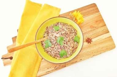 Risotto crémeux de quinoa aux champignons shiitake