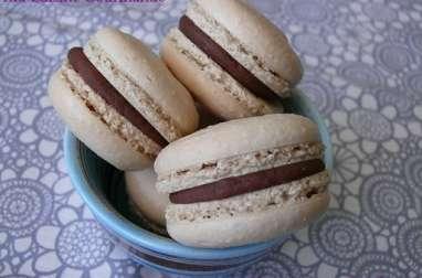 Macarons au Gianduja Weiss