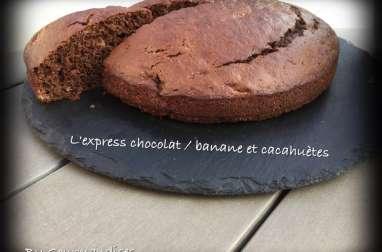 L'express chocolat, banane et cacahuètes