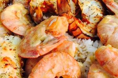 Crevettes à la crème et au vin blanc