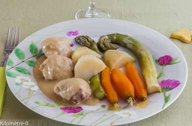 Sauté de dinde à la moutarde et aux légumes de printemps
